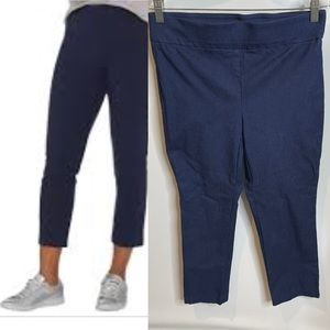 Nue options 6 stretchy cropped navy pants leggings